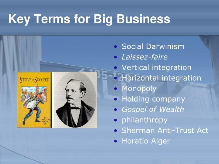 Key Terms for Big Business