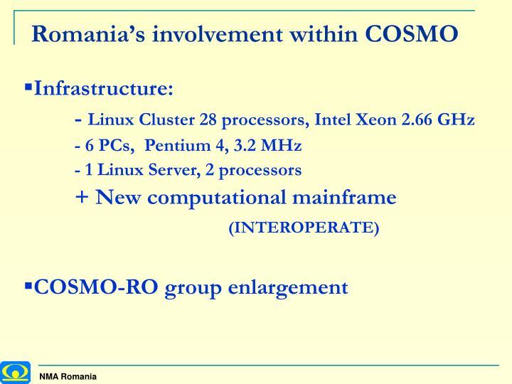Romania's involvement within COSMO