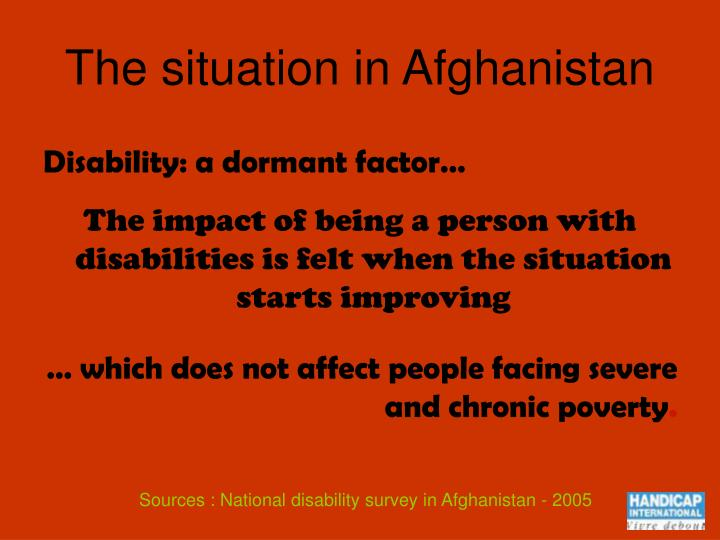 The situation in Afghanistan