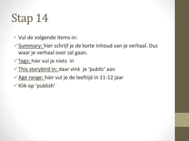 Stap 14