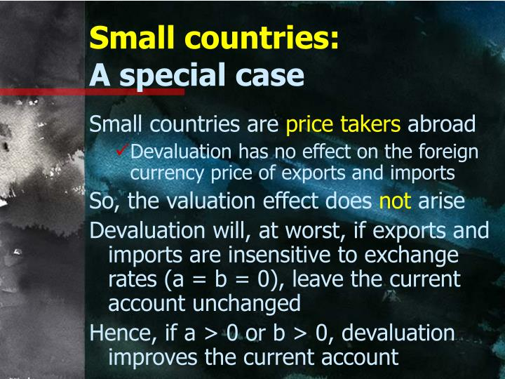 Small countries:
