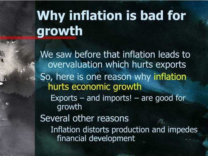 Why inflation is bad for growth