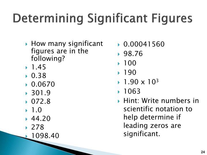 Determining Significant Figures