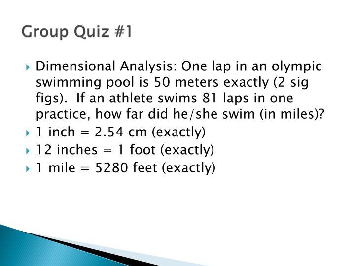 Group Quiz #1