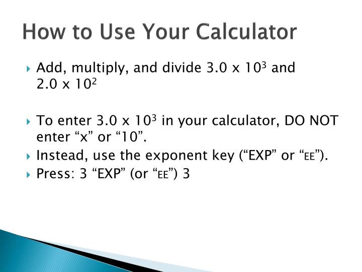 How to Use Your Calculator