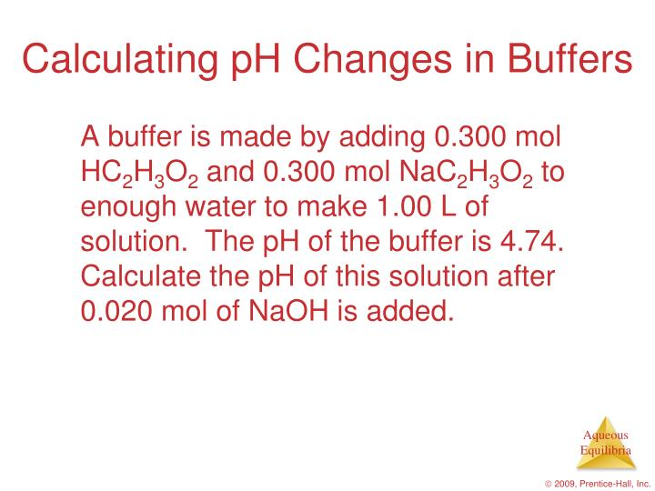 Calculating pH Changes in Buffers