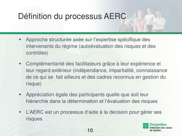 Définition du processus AERC
