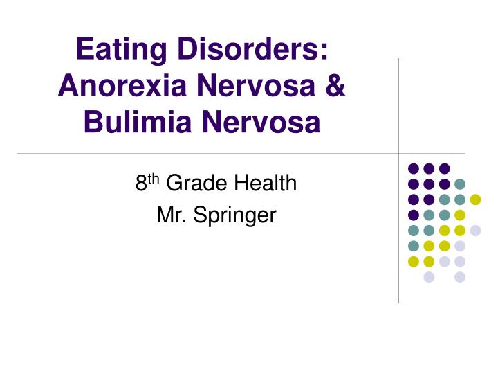 eating disorders anorexia nervosa bulimia nervosa n.