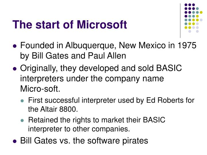 The start of Microsoft