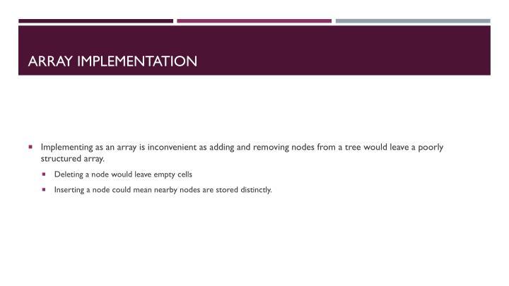 Array Implementation
