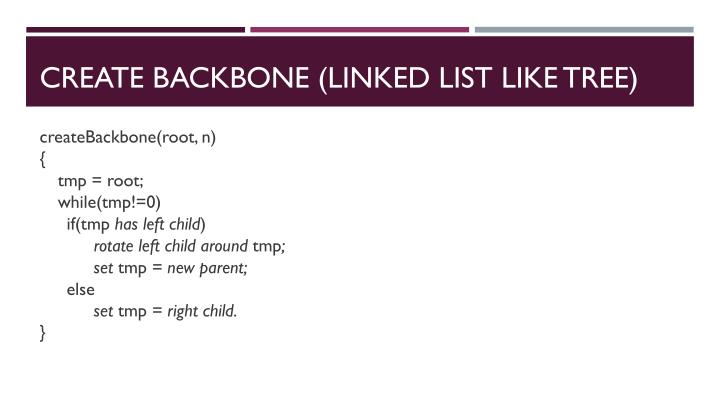 Create Backbone (Linked list like tree)