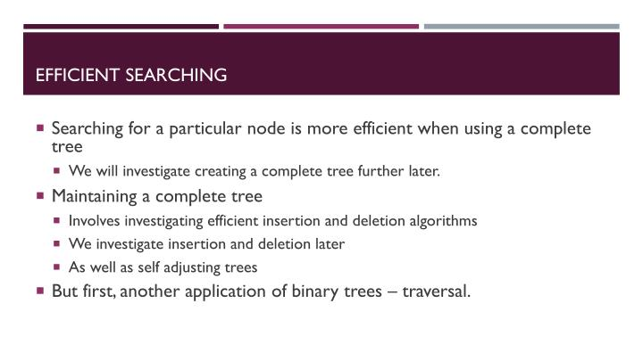 Efficient searching