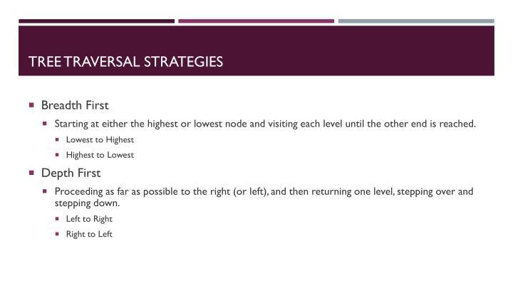 Tree Traversal Strategies