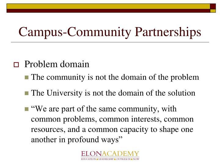 Campus community partnerships