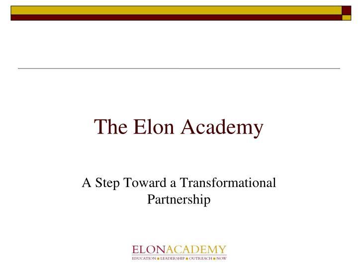 The Elon Academy