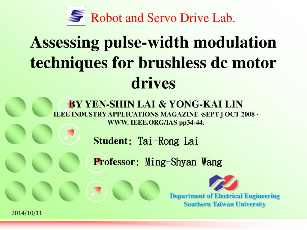 Ppt Assessing Pulse Width Modulation Techniques For Brushless Dc 8211 What Is It Motor Drives N