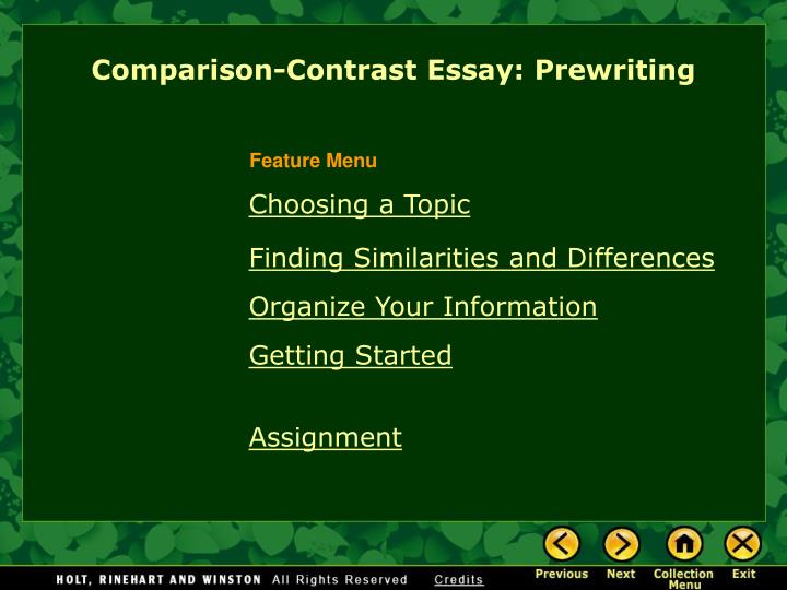 comparison contrast thesis statements essays How to write a compare and contrast essay  directions a compare-and-contrast thesis can  common method used in the comparison and contrast essay.