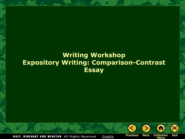 writing contrast and additionally contrast essay powerpoint presentation
