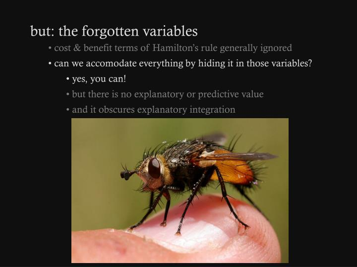 but: the forgotten variables