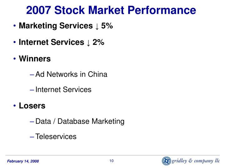 2007 Stock Market Performance