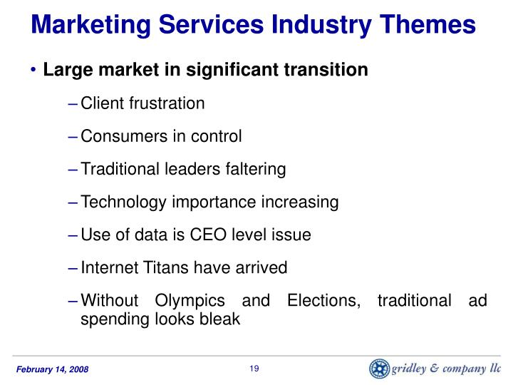 Marketing Services Industry Themes