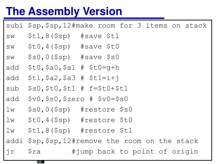 The Assembly Version