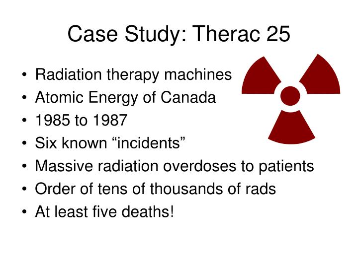 case study when radiation therapy kills