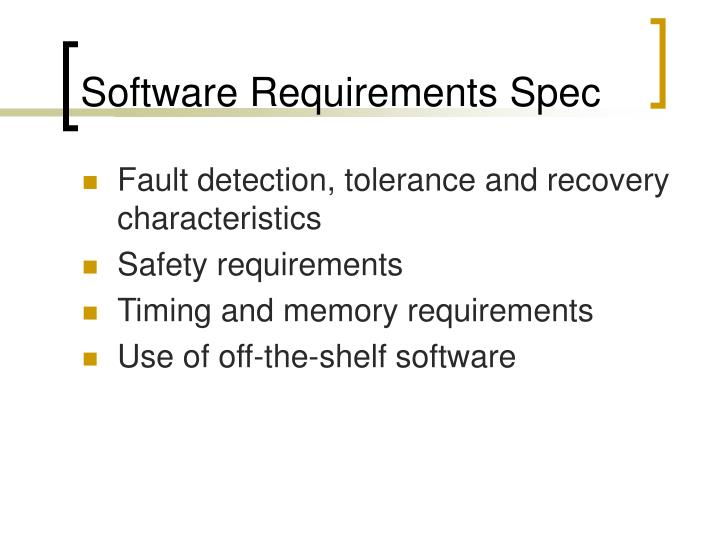 Software Requirements Spec