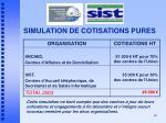 simulation de cotisations pures