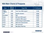 nsa main clients prospects