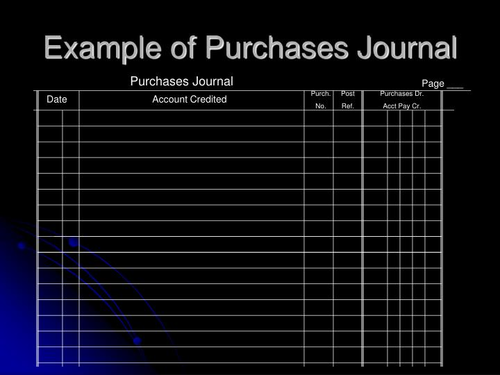 Purchases Journal