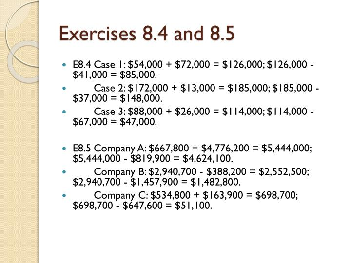 Exercises 8.4 and 8.5