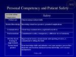 personal competency and patient safety