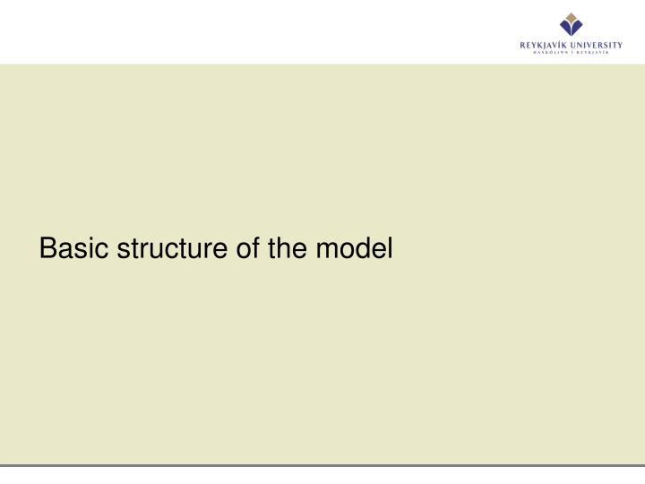 Basic structure of the model