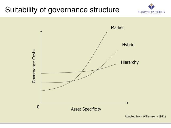 Suitability of governance structure