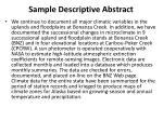 descriptive abstract sample
