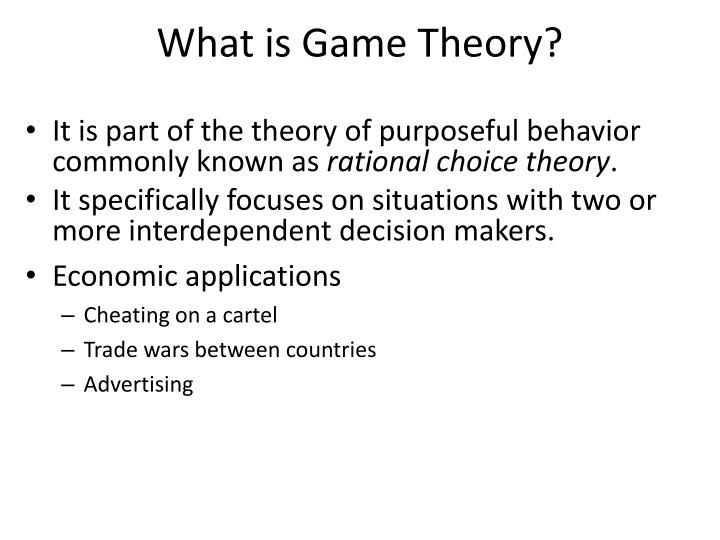 what is game theory n.