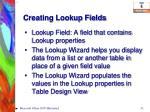 creating lookup fields