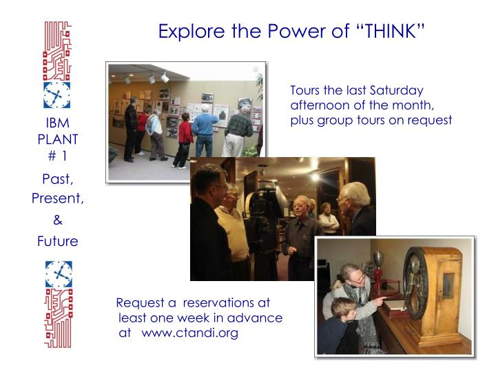 """Explore the Power of """"THINK"""""""