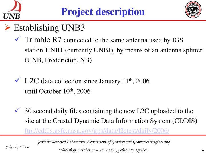 Establishing UNB3