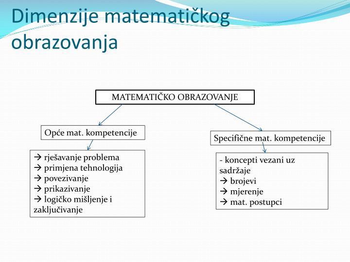 Dimenzije matematičkog obrazovanja