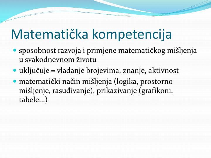 Matematička kompetencija