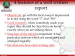 4 features of a well written report