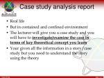 case study analysis report