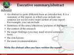 executive summary abstract