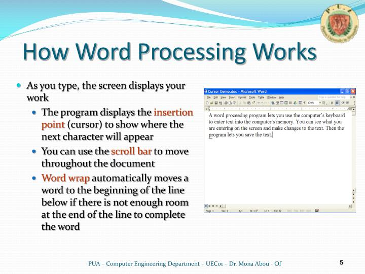 How Word Processing Works