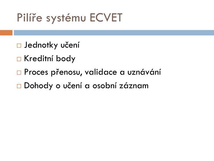 Pilíře systému ECVET