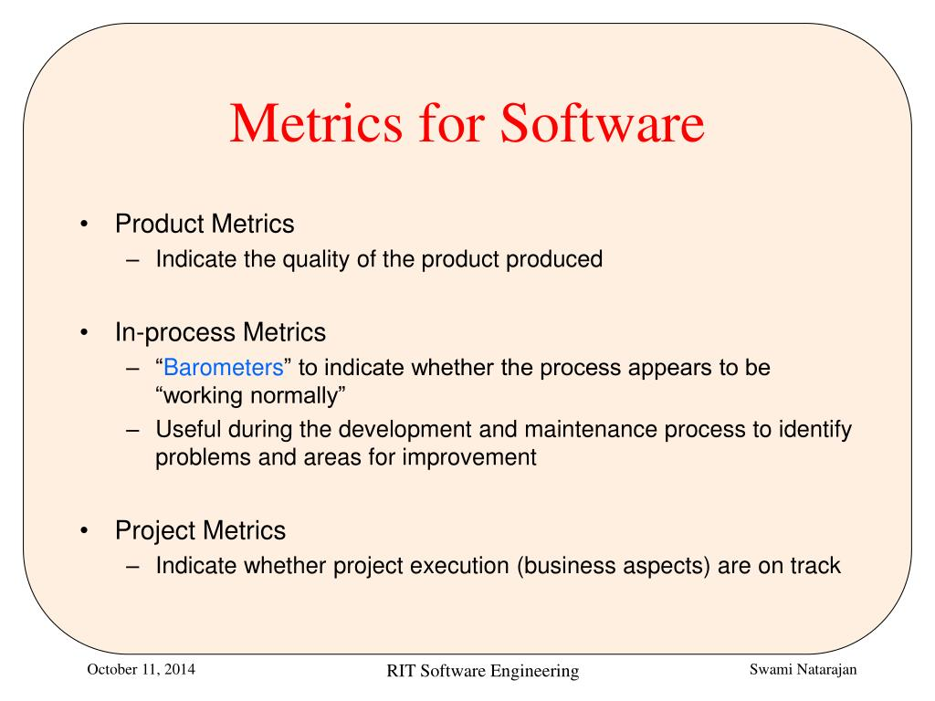 PPT - Software Metrics Overview PowerPoint Presentation ...