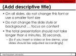 add descriptive title1