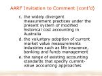 aarf invitation to comment cont d